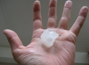 A very big hail stone