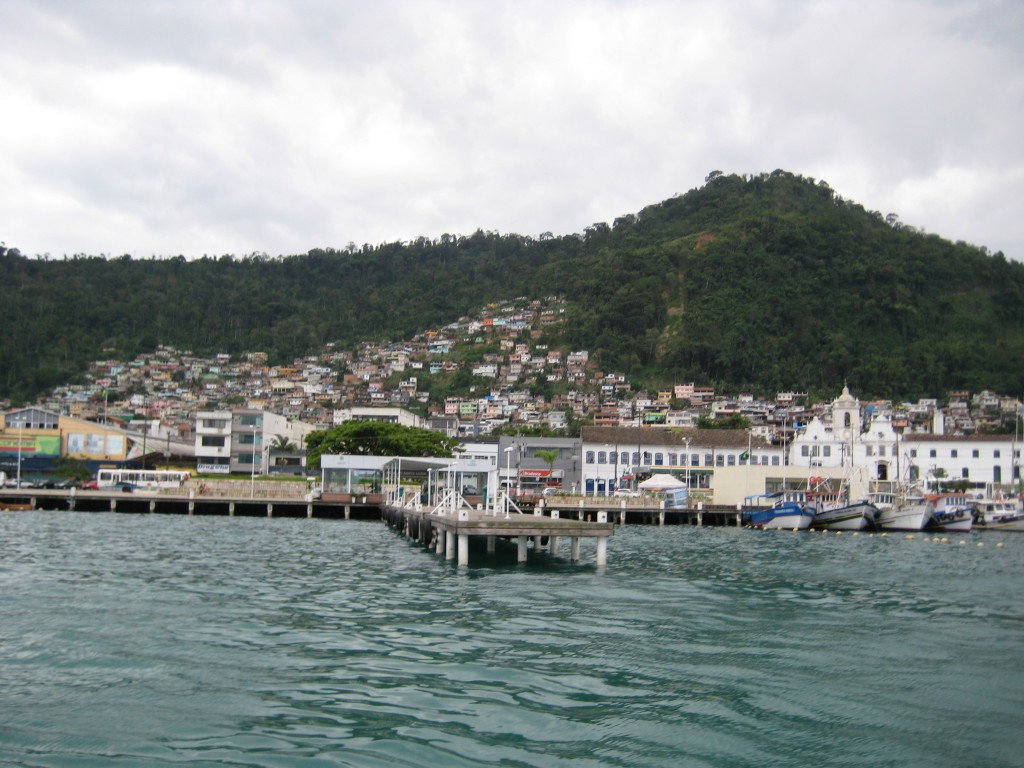 The port of Angra dos Reis where we finally managed to get a boat to the island.